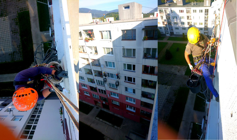 špárovanie panelového domu | výškové práce