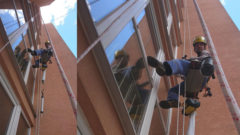 umývanie okien výškové práce | výškové práce