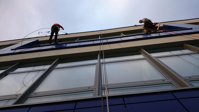čistenie a umývanie okien | výškové práce