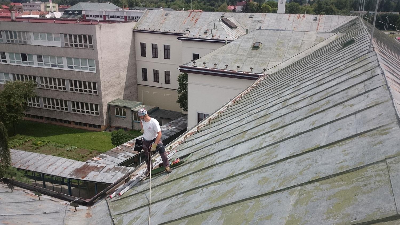 klampiarske práce - nátery striech | výškové práce