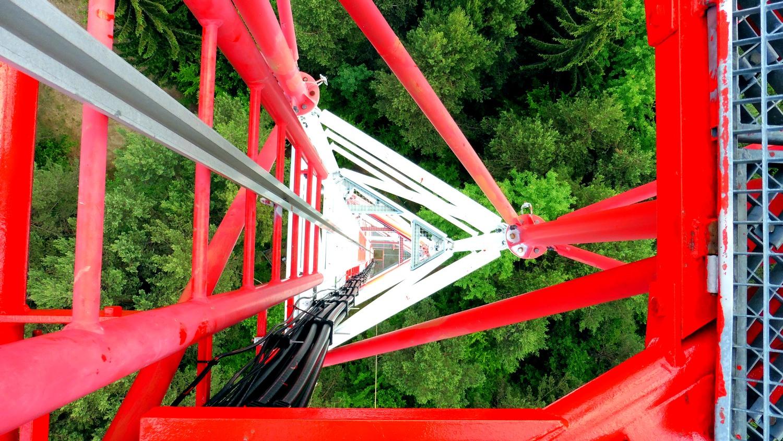 náter telekomunikačného vysielača | výškové práce