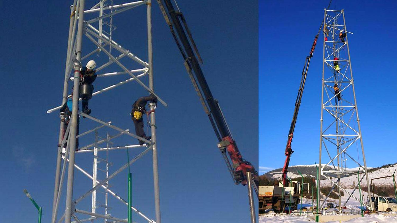 montáž telekomunikáčného stožiara | výškové práce